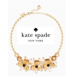 Kate Spade Blooming Brilliant Gold Toned Necklace